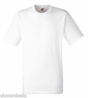 72 Fruit Of The Loom White T Shirts All Sizes S-Xxl
