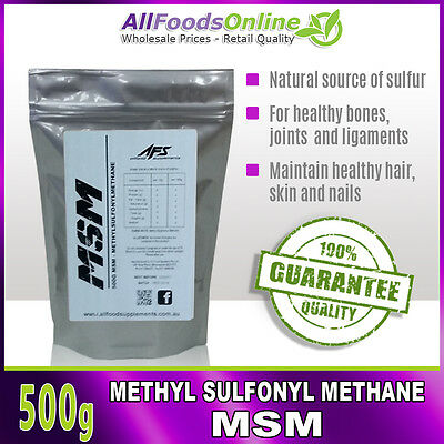 MSM - METHYL Sulfonyl Methane - Bone, Joint and Ligament
