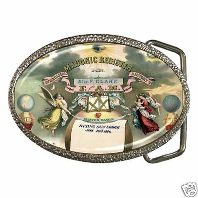 Freemasonry Masonic 1876 Register Belt Buckle New