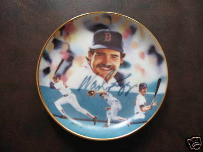 Wade Boggs Autographed Sports Impressions Mini Plate