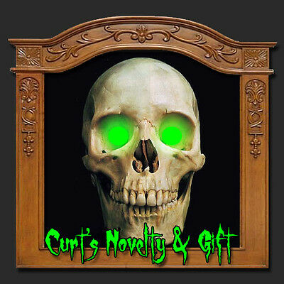 LED GREEN EYES HALLOWEEN PROP Crank Ghost Mask