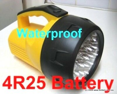 Powerful 16Led Torch Waterproo, to use 6V large battery to Continue light 160hr