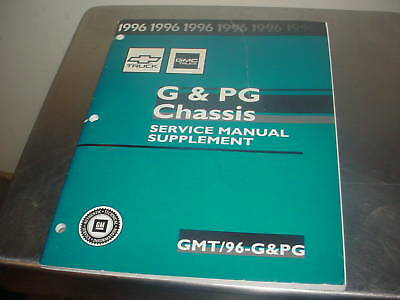 1996 G & PG Chassis Service Manual Supplement