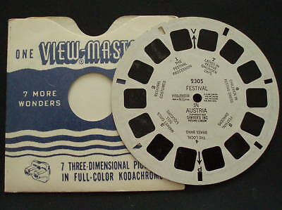 VIEWMASTER~# 2305 FESTIVAL IN AUSTRIA 1953