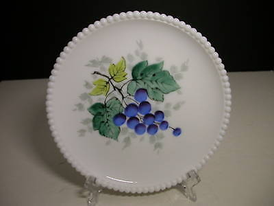 "Westmoreland Beaded Edge Grapes Salad Plate 7 3/8"" D"