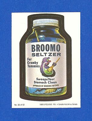 1989 OPC O Pee Chee Wacky Packages # 56  Broomo Seltzer