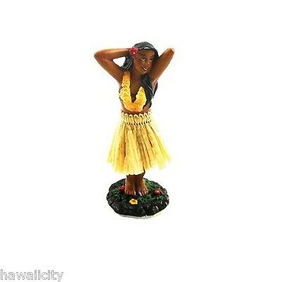 Hawaiian Dashboard Small Posing Hula Girl Doll For Your Car