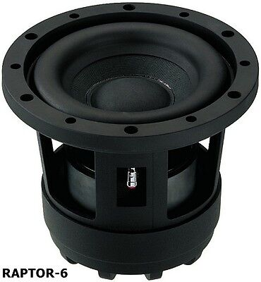 Raptor 6 Subwoofer Kickbass Monacor Carpower Raptor-6