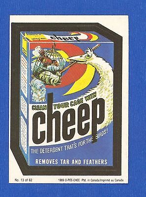 1989   OPC  O Pee Chee   Wacky Packages    # 13   Cheep