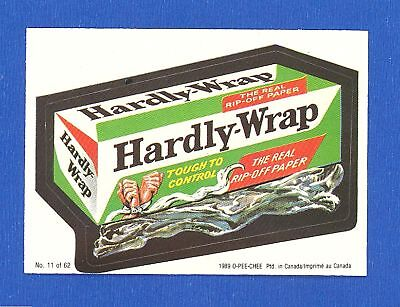 1989  OPC  O Pee Chee  Wacky Packages  # 11 Hardly Wrap