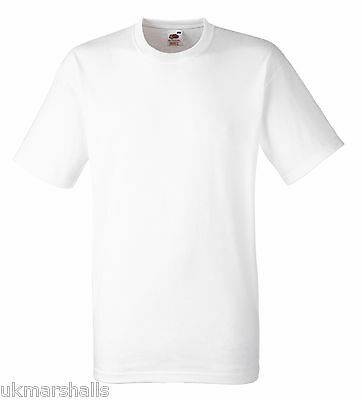 100 White Fruit Of The Loom Heavy Cotton White T Shirts