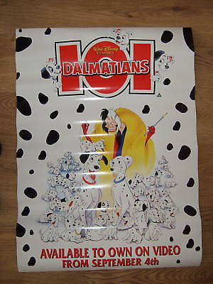Disneys 101  DALMATIANS(1996) Original UK video poster
