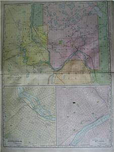 1912 Minneapolis & St. Paul Large dated Commercial map*