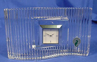 Waterford Large WAVELENGTH Clock IRELAND NIB!