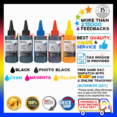 5x NoN-OEM100ml CIS INK REFILL for Canon iP4200 iP5200 MP500 MP830