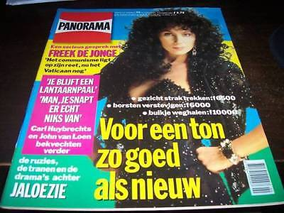 Cher - On The Cover Of 91 Dutch Panorama Mag. Rare!