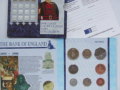 1994 Royal Mint  B UNC coin colection year set.