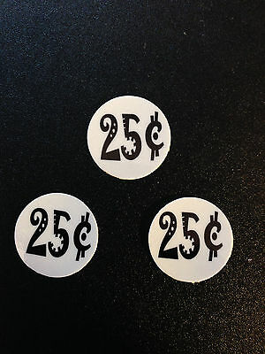 "12 .25 INSIDE MOUNT 1"" Vending Price labels White"