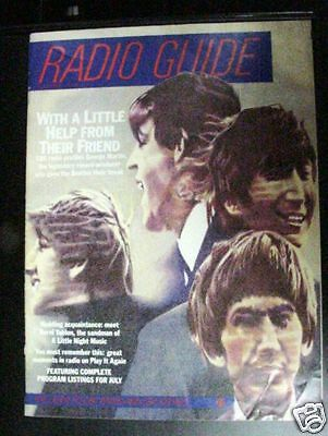 RADIO GUIDE, BEATLES ON THE COVER, JULY 1983