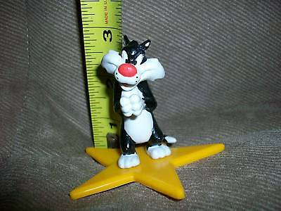 Sylvester on star pvc figure NEW by Applause 2.5 in tal