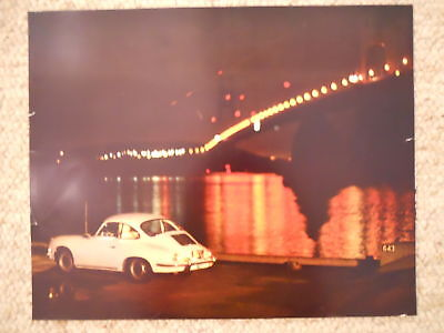1972 Porsche 356 Coupe Showroom Advertising Poster RARE!! Awesome L@@K