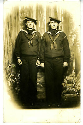 WWI RPPC Postcard Sailors Seattle WA Joy Parlor Studio
