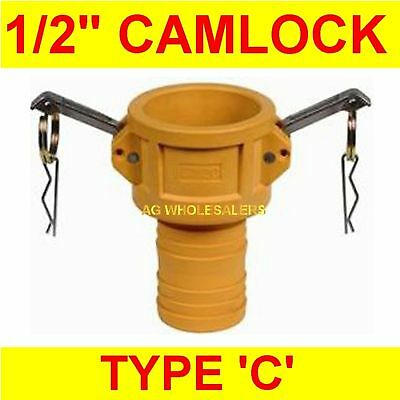 "Camlock Nylon Type C 1/2"" Cam Lock Irrigation Fitting"