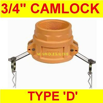 "Camlock Nylon Type D 3/4"" Cam Lock Irrigation Fitting"