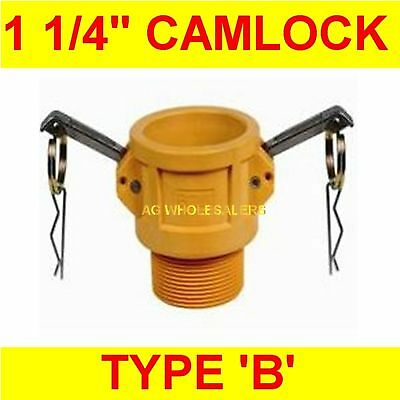 "Camlock Nylon Type B 1 1/4"" Cam Lock Irrigation Fitting"