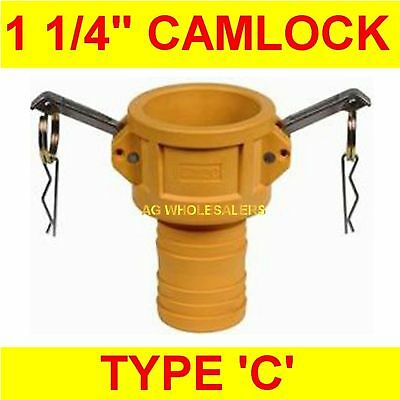 "Camlock Nylon Type C 1 1/4"" Cam Lock Irrigation Fitting"