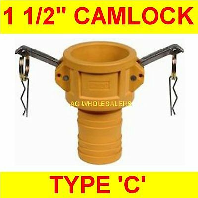 "Camlock Nylon Type C 1 1/2"" Cam Lock Irrigation Fitting"