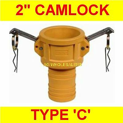 "Camlock Nylon Type C 2"" Cam Lock Irrigation Fitting"