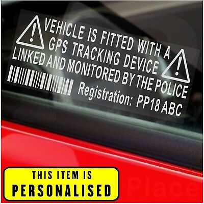 Courier,Delivery Van,Vehicle Security Stickers-Alarm,GPS Warning-Number Plate
