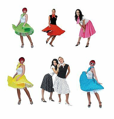 Rock N Roll 1950s #Skirts Fancy Dress Adult One Size Costume All Colours