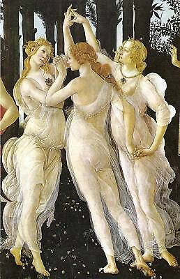 Botticelli Three Graces Canvas Print 20*30 Inch HUGE !
