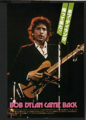 1976 BOB DYLAN JAPAN mag PHOTO PIN-UP mini poster
