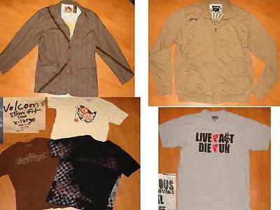 Lot 6 QUIKSILVER JACKET BILLABONG VOLCOM t-shirts XL