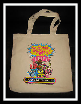 YO GABBA GABBA LIVE 2009 TOUR THERE'S A PART IN MY CITY CANVAS BAG Very Rare!