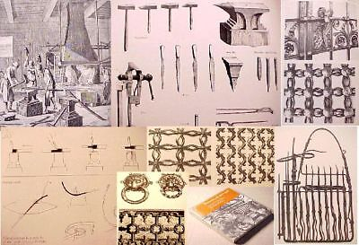 Ornam.IRON WORK Wrought Cast Stair Rail METAL building ART fence PATTERN making