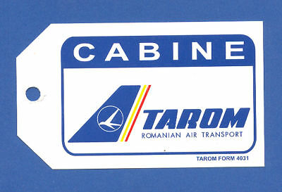 Tarom Romanian Air Transport Airlines Cabin Baggage Tag