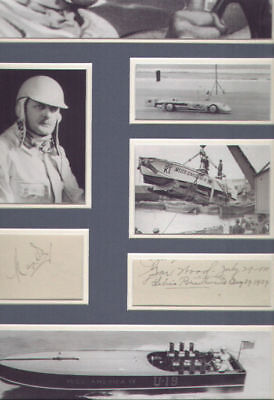Gar Wood And Kaye Don (Water Speed Record) Signed Autographs