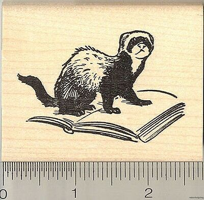 Halloween Ferret Mummy Rubber Stamp H14101 WM