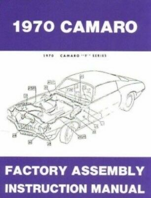 CAMARO 1970 Assembly Manual 70