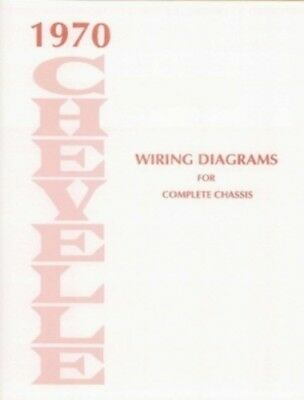 1970 70 Chevelle Ss Wiring Diagram Manual Ebay - WIRE Center •