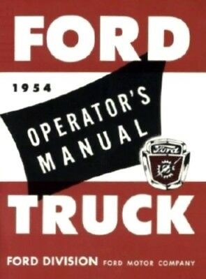 FORD 1954 Truck Owner's Manual 54 Pick Up