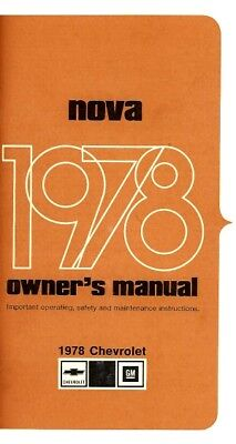 CHEVY II / NOVA 1978 Owner's Manual 78