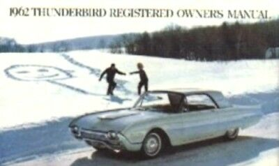 THUNDERBIRD 1962 Owner's Manual 62 Tbird