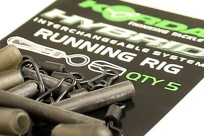 Korda NEW Carp Fishing Hybrid Running Rig Kit 5 Per Pack
