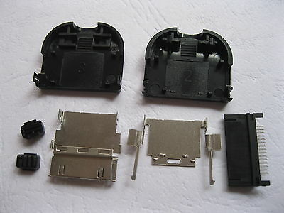 5 pcs 30pin Connector for iPod with Black Plastic Shell New