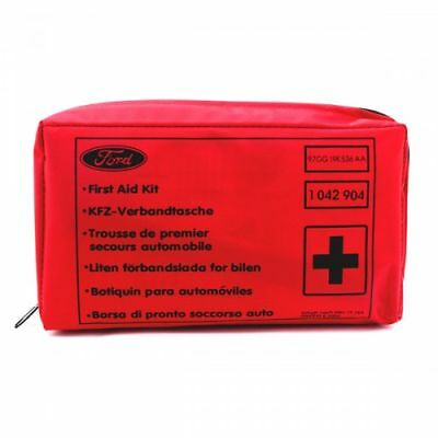 Genuine Ford First Aid Kit Blue Including Gloves And Emergency Bandages